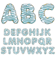 Donut font tasty alphabets isolated objects vector image vector image