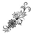 Doodle abstract handdrawn flower ornament vector image