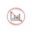 dot plot graph line icon presentation chart sign vector image vector image