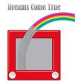Dreams come true unique graphic vector image