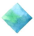 emerald green and deep blue square watercolor vector image vector image