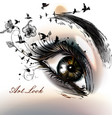 fashion with hand drawn female eye beautiful art vector image vector image