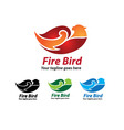 Fire Bird Logo Design Fire Bird Icon vector image
