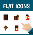 flat icon cacao set of delicious dessert cocoa vector image vector image