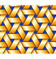 Golden Hexagonal Basketwork vector image vector image