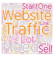 Got Traffic text background wordcloud concept vector image vector image