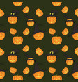 halloween seamless pattern endless background wit vector image vector image