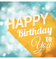 happy birthday retro vector image vector image