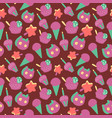 happy birthday wrapping paper seamless pattern vector image