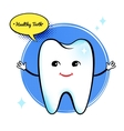 Healthy tooth character vector image
