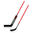 Ice hockey sticks vector image vector image