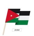 Jordan Ribbon Waving Flag Isolated on White vector image