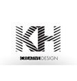 kh k h lines letter design with creative elegant vector image vector image