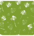 Leavesflowers hand drawn grunge background vector image vector image