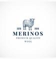 merinos wool abstract sign symbol or logo vector image vector image