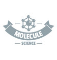 molecule logo simple gray style vector image vector image