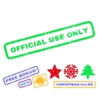 Official Use Only Rubber Stamp vector image vector image
