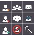 organizer icon set vector image vector image