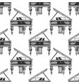 pattern with grand piano vector image