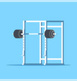 picture of squat rack vector image vector image