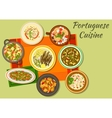 Portuguese cuisine icon for food design vector image vector image