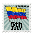 post stamp of national day of Venezuela vector image vector image