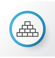 pyramid icon symbol premium quality isolated vector image