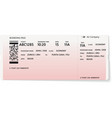 red and white boarding pass vector image vector image