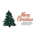retro merry christmas greeting card vintage vector image
