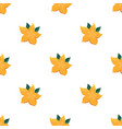 seamless pattern with bright yellow starfruit vector image