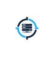 server target logo icon design vector image