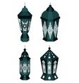 Set of 4 Ramadan Lanterns Kareem vector image