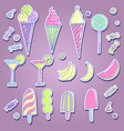set of different kinds of sweets vector image vector image