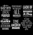 set of stylized retro-styled quotations on vector image