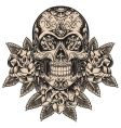 Skull and roses vector | Price: 5 Credits (USD $5)