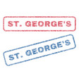 stgeorge s textile stamps vector image vector image