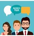 strategic partnership design vector image