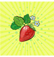 strawberry pop art fruits with vector image