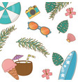 summer and vacations background pattern vector image vector image