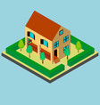 two-storey house in isometric vector image vector image