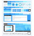 UI Flat Design Elements for Web Infographics vector image vector image