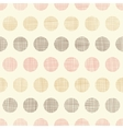 Vintage textile polka dots seamless pattern vector image