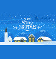 winter background with houses vector image vector image