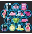 Icons sports items and tools vector image