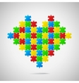 Heart from puzzle pieces vector image