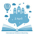international childrens book day vector image