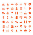 49 navigation icons vector image vector image