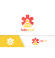 ambulance and wifi logo combination medic vector image