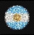 argentina flag sparkling badge vector image vector image