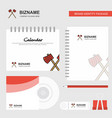 axe logo calendar template cd cover diary and usb vector image vector image